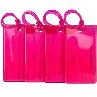4 pack luggage tags for suitcases flexible