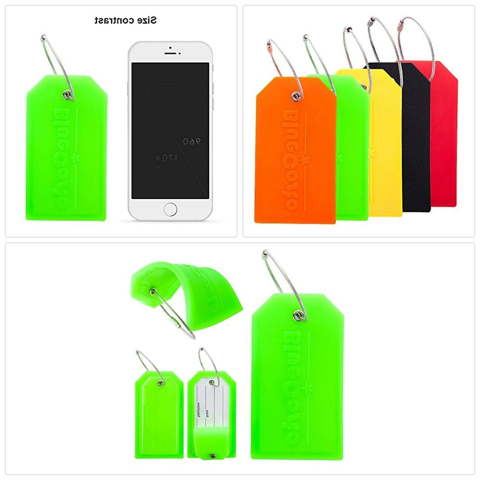 5 pack luggage tags suitcase tag travel