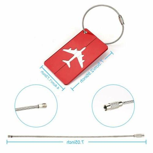 6x Luggage Tags Suitcase Label ID Travel
