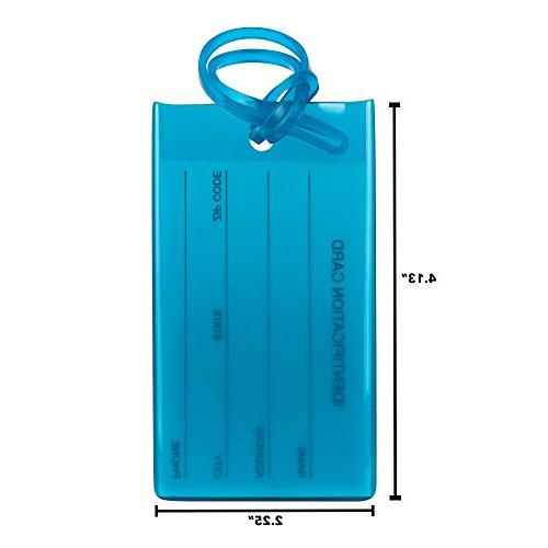 7 TravelMore Tags For Silicone Travel ID Labels For Bags &