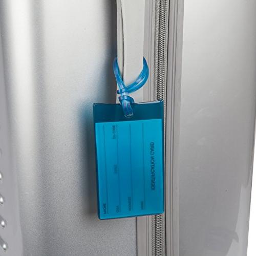 7 TravelMore Tags Flexible Silicone Labels Set &