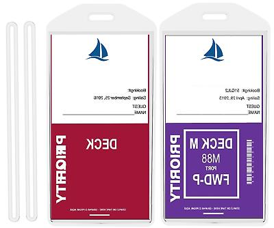 8 luggage cruise tag holders for princess