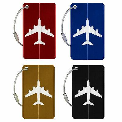 8pcs Luggage Tags Label Name Bag Baggage 4 Colors