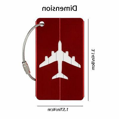 8pcs Tags Label ID Bag Baggage 4