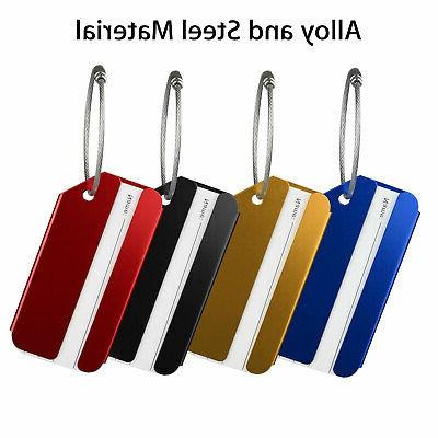 8pcs Label Address ID Bag Baggage Tag Travel 4 Colors