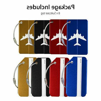 8pcs Suitcase Label Address Bag Baggage Tag Travel