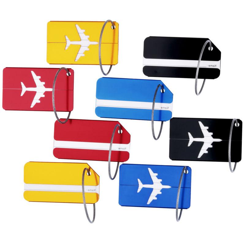 8pcs Luggage Tags Suitcase Label Address Bag Tag