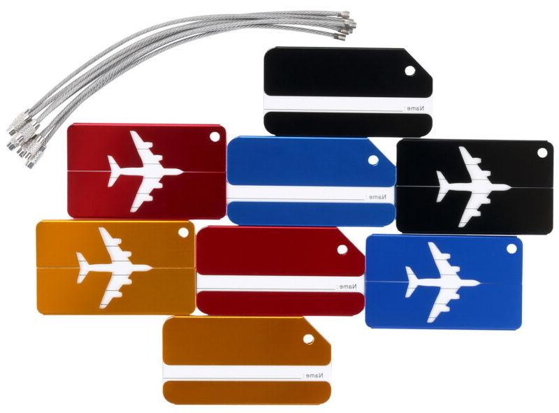 8pcs Luggage Tags Suitcase Label ID Bag Travel