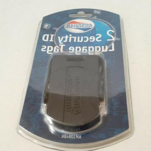 American Tourister 2 Security ID Luggage Tags