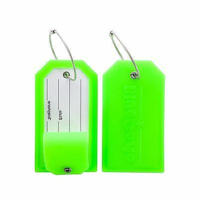 BlueCosto Luggage Tags Suitcase Labels Tag Privacy Cover Ste