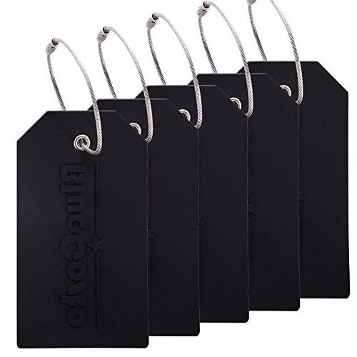 BlueCosto 5x Luggage Tags Travel Bag Suitcase Labels w/Priva