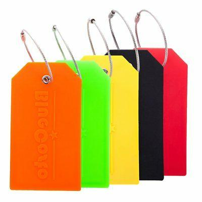 BlueCosto 5x Luggage Tags Travel Bag Suitcase Labels w/ Priv