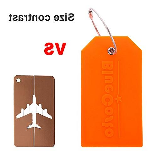 BlueCosto 2 Tag Suitcase Tags Travel Bag Cover -