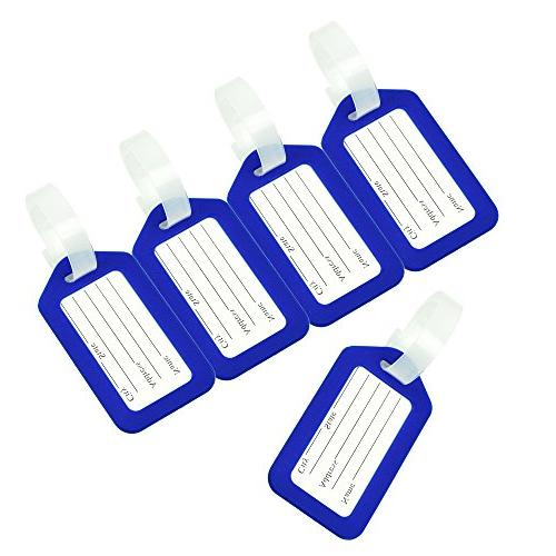 BlueCosto Bag Labels - Blue,10 Pack