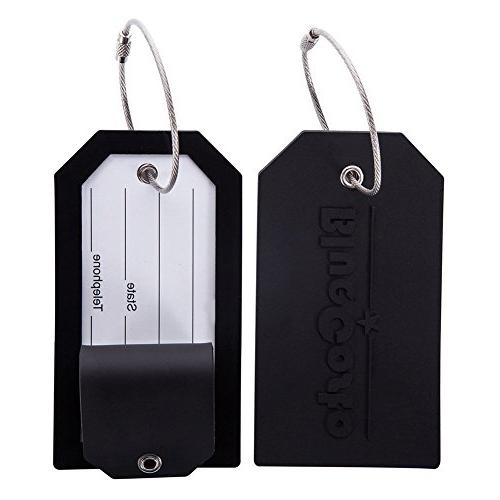 BlueCosto Luggage Tag Travel Accessories w/ Privacy Cover St