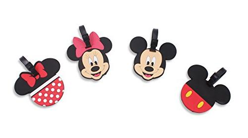 Finex Set of 4 - Mickey Mouse Minnie Mouse Travel Silicone L