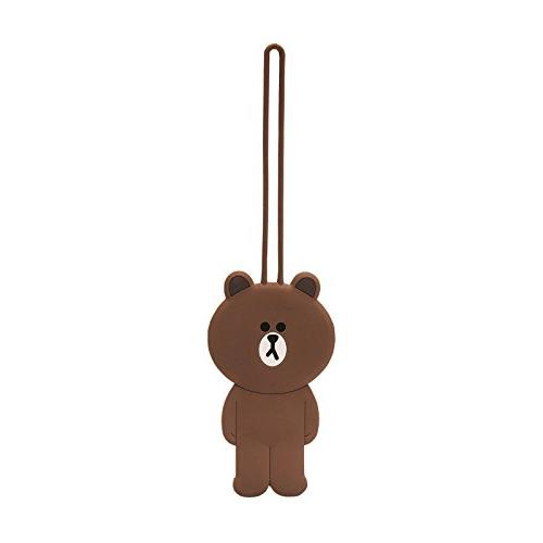 LINE FRIENDS Brown Luggage Tags One Size Brown
