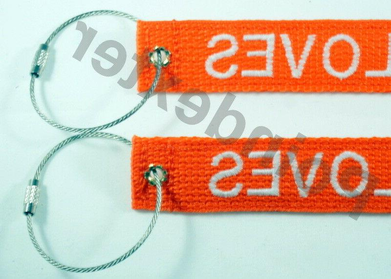 "Luggage Tag, SS, Double Sided, 1"" Webbing Personalized Embro"