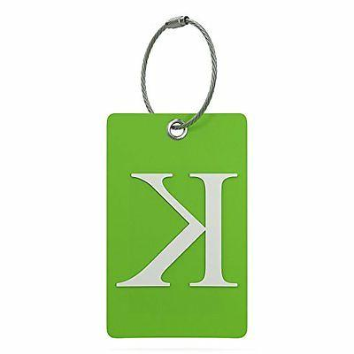 Luggage Tag Initial – Fully Bendable Tag w/ Stainless Stee