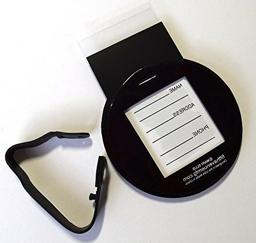 Luggage Tag Initial Bag Personalized Reinforced Bendable Duty W/Identity Protection )