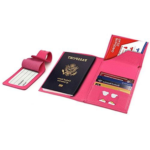 OTTO Real Leather Passport Wallet - RFID Blocking with Ticke