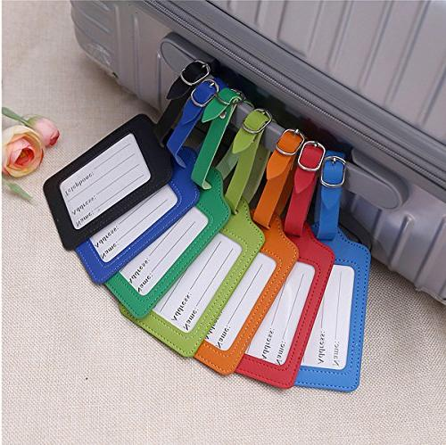 Travel Luggage Bulk Tag Set Labels Suitcases 5 Pack