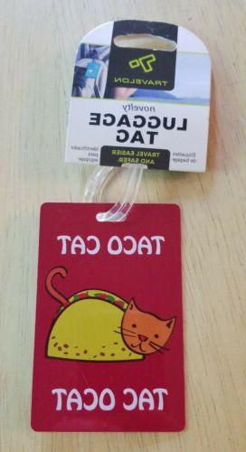 Travelon Personal Expression Luggage Tag, Taco Cat