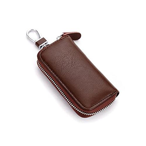 Unisex Mens Womens Premium Leather Car Key Holder Bag Keycha