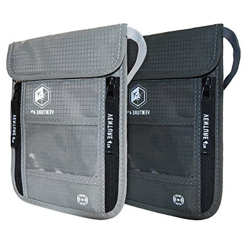 VENTURE 4TH Travel Neck Pouch With RFID Blocking -Travel Wal