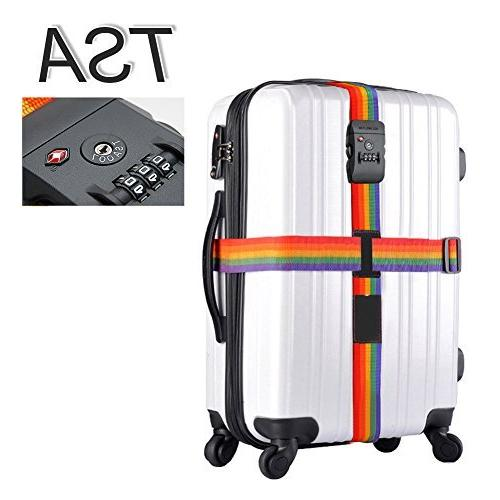 Westonetek Adjustable Luggage Strap Long Cross Design Travel