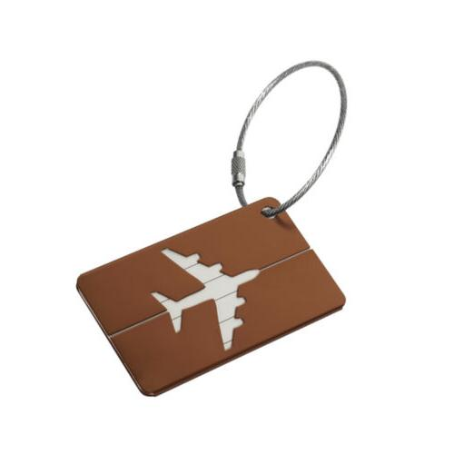 Aluminium Luggage Tags Label Name Address ID Baggage Travel