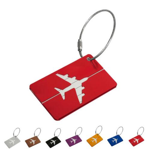 aluminium luggage tags suitcase label name address