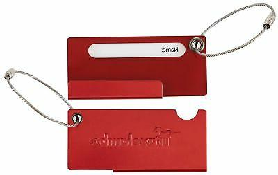 aluminum luggage tag bag tags 2 pcs