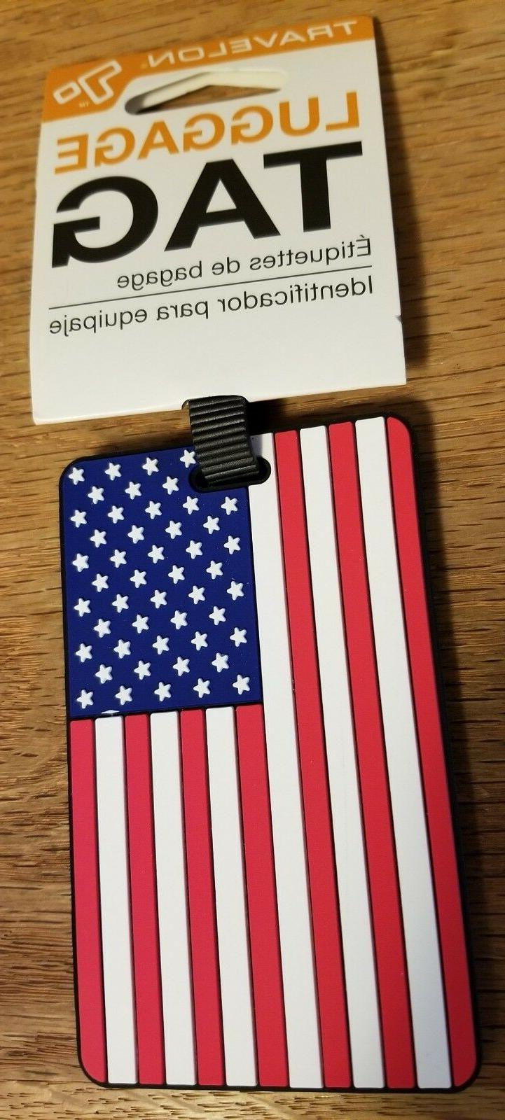 american flag luggage tag brand new patriotic
