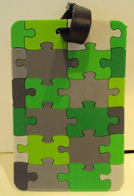 brand green gray black puzzle look luggage
