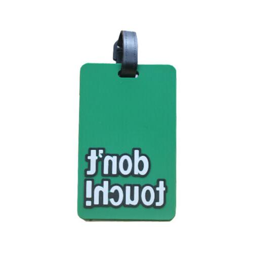 Cartoon Travel Name Silicone Tag Luggage Address