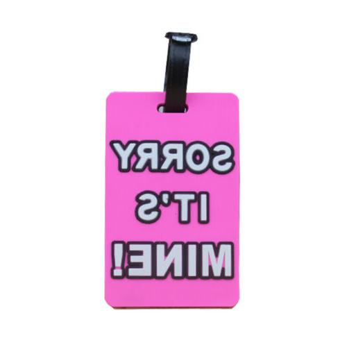 Cartoon Travel Name Luggage Address Solid