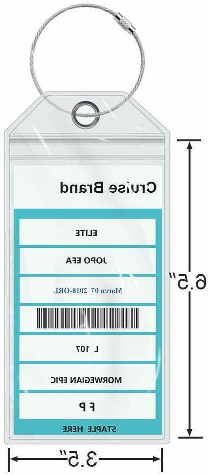 Seala Cruise Luggage Tags, Carnival E-tag Holders Zip Seal, Pack