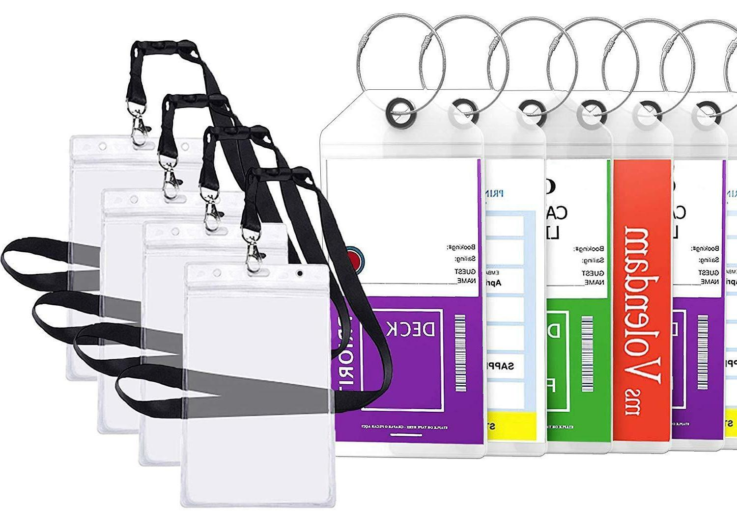 cruise tags luggage etag holders zip seal
