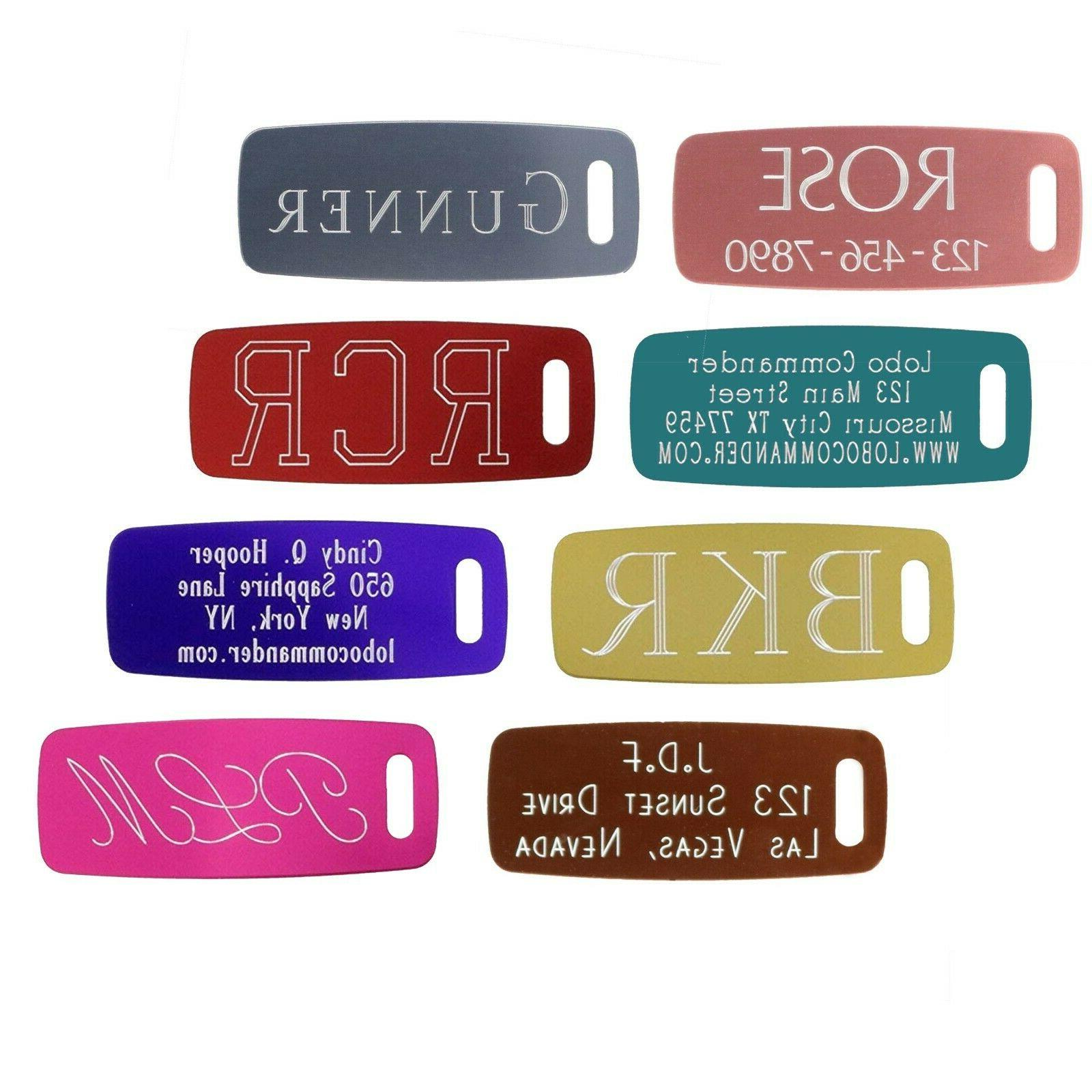 custom aluminum luggage tags personalized and engraved