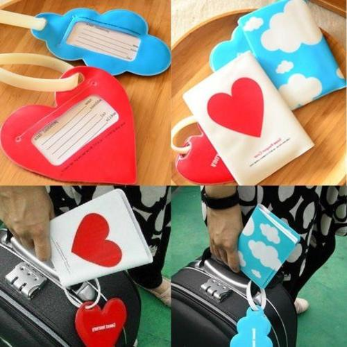 Cute Gift Silicone Love/Cloud Travel Holder Luggage