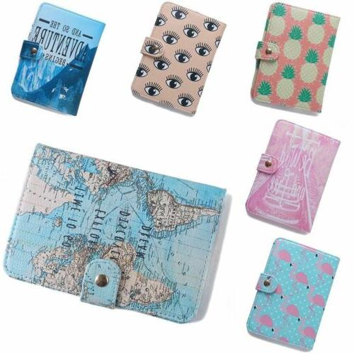 Cute PU Travel Passport Holder Blocking Cards Case Tags