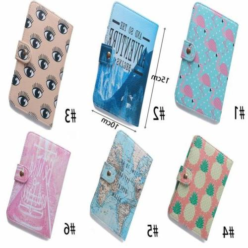Cute Leather Passport Cards Case Cover Tags