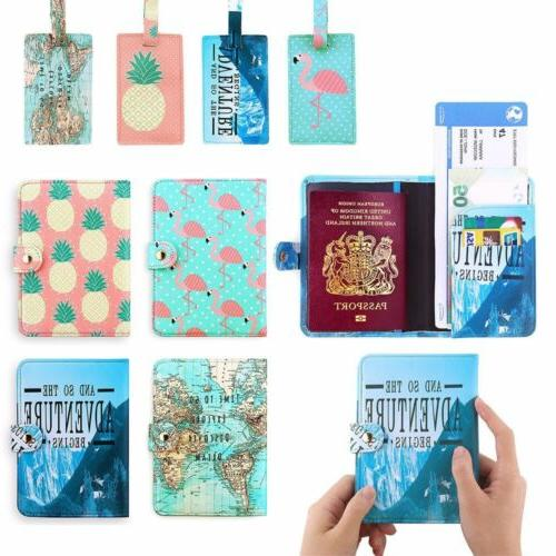 cute pu leather travel passport holder blocking
