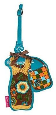 "Deluxe Luggage tag Urban Cowgirl  NEW 7"" x 5"" Purse Backpack"
