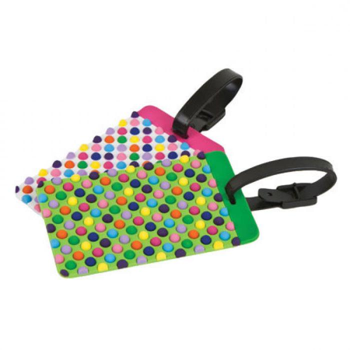 dots luggage tags set of 2 new