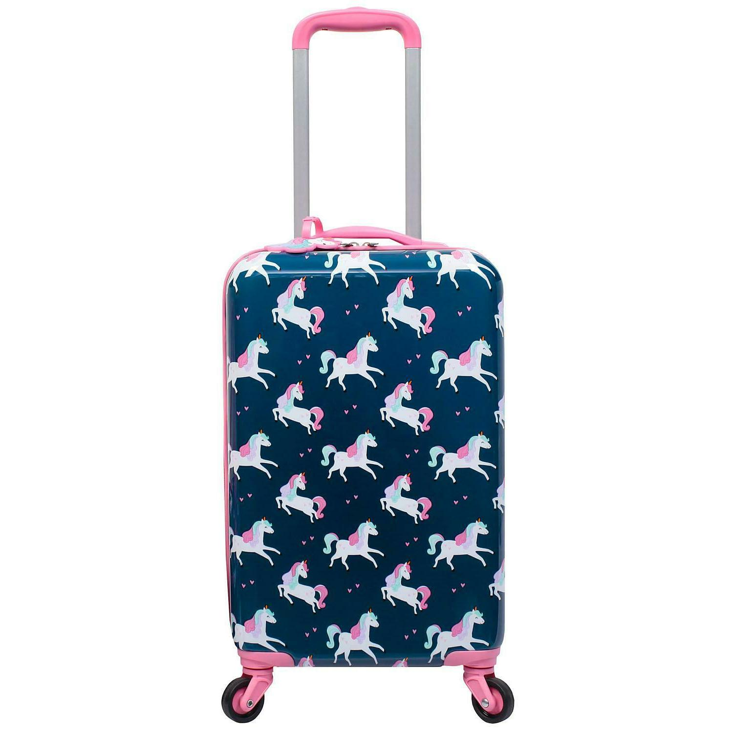 Kids Hardside Spinner with Matching Luggage Tag