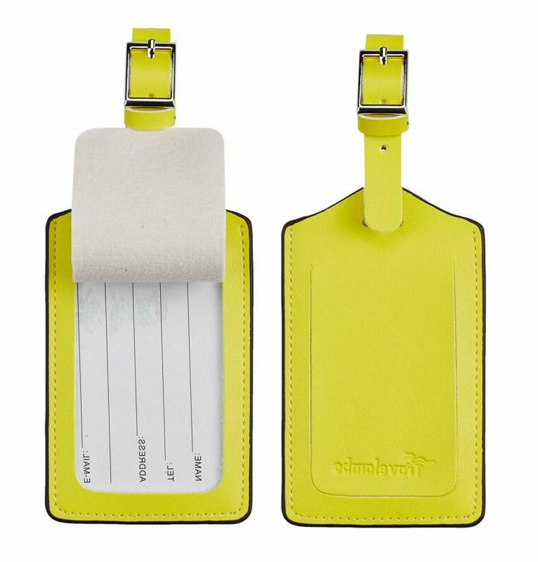 Travelambo Leather Tags Yellow