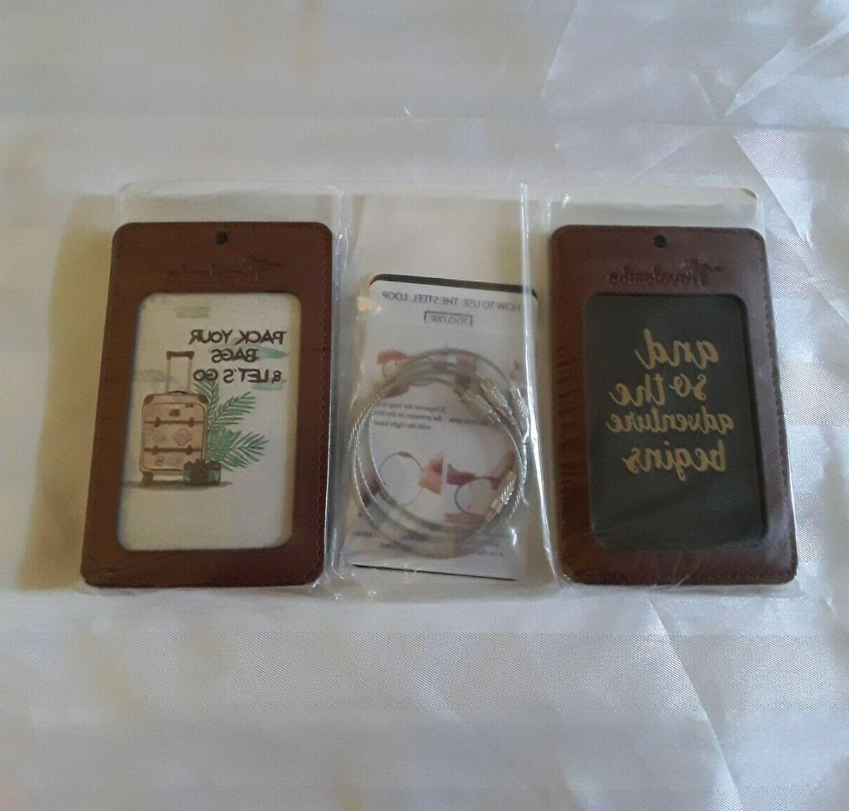 leather luggage tag bag suitcase travel tag