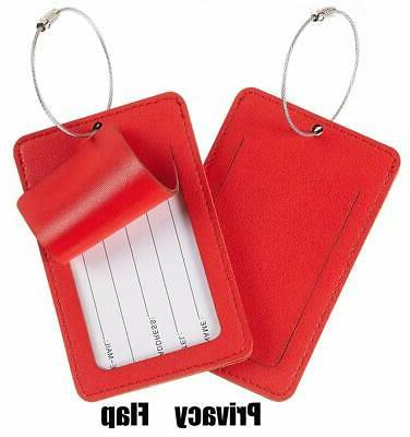 Travelambo Leather Suitcase Travel Tags